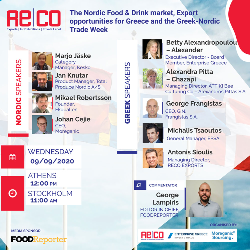 Export Opportunities For Greece And The Greek-Nordic Trade Week