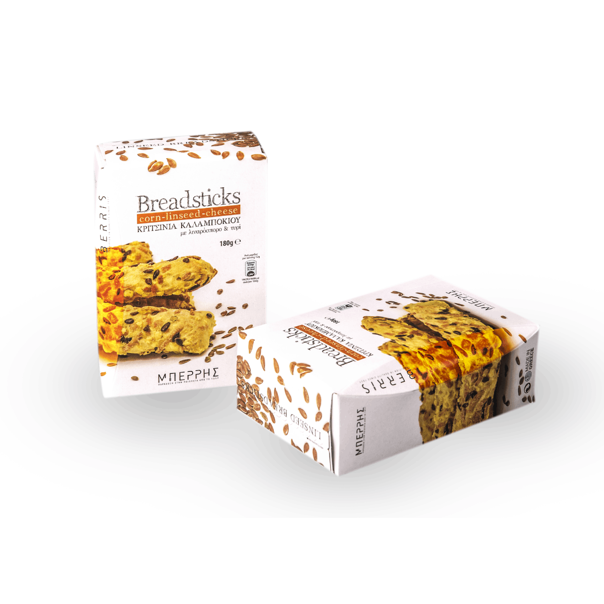 Linseed Breadsticks With Corn And Cheese 180gr